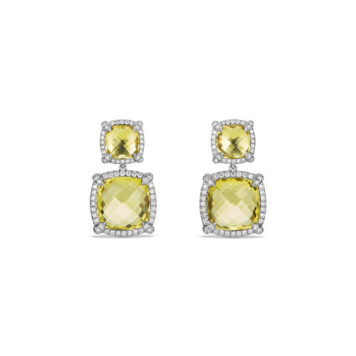 Chtelaine Double-Drop Earrings with Diamonds