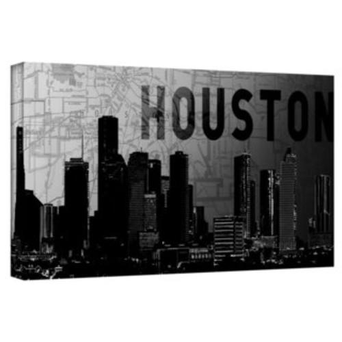 Marlene Watson 'Houston Texas Skyline' Canvas Wall Art