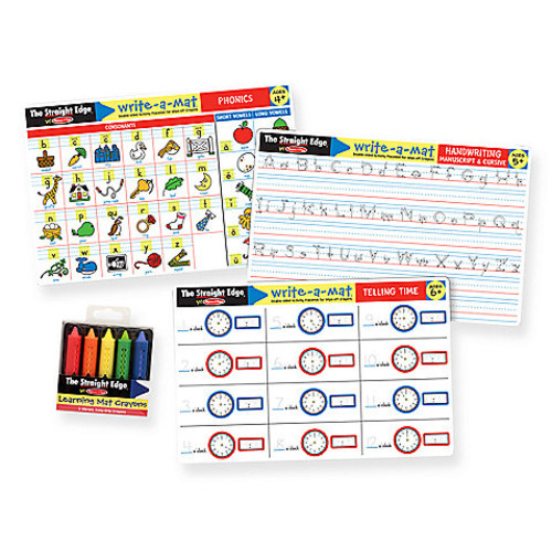 Melissa & Doug Basic Skills Placemat Set