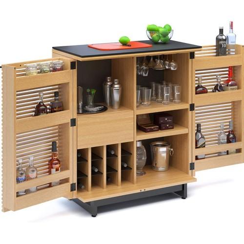 BDI Corridor Bar 5620 (White Oak) Liquor cabinet
