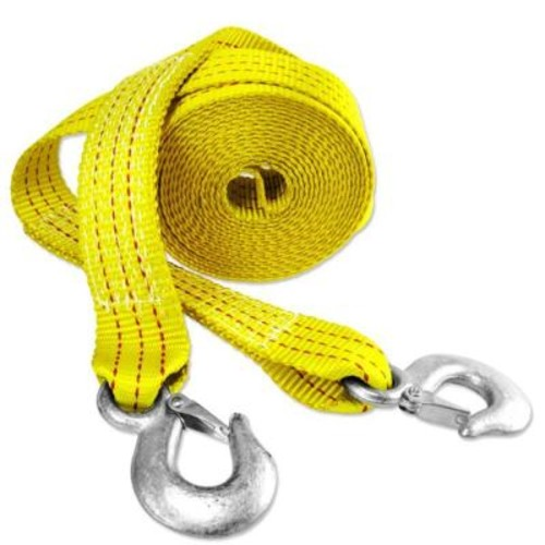 Capri Tools 2 in. x 20 ft. x 10,000 lbs. Heavy-Duty Tow Strap with Hooks (2-Pack)