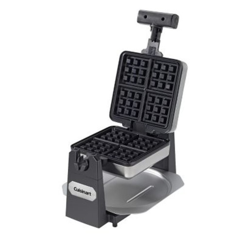 Cuisinart Non-Stick 4 x Square Belgian Waffle Maker, Stainless Steel/Black (WAF-F15)