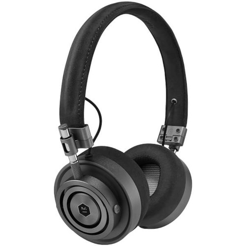 Master and Dynamic MH30 On Ear Headphones - Gunmetal/Black Alcantara