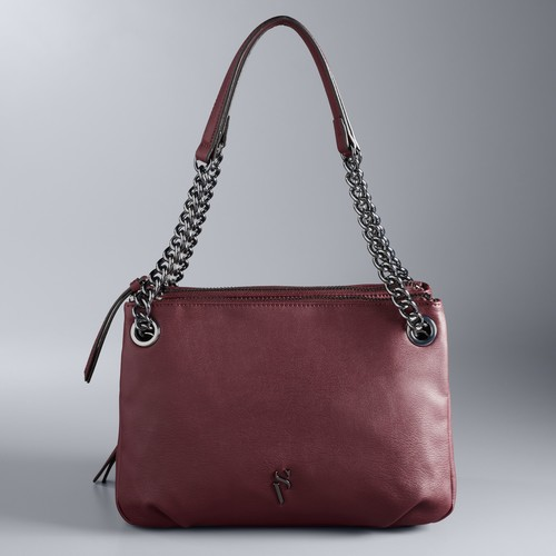 Simply Vera Vera Wang Brent Triple Entry Shoulder Bag
