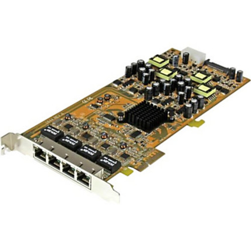 StarTech.com 4 Port Gigabit Power over Ethernet PCIe Network Card - PSE / PoE PCI Express NIC