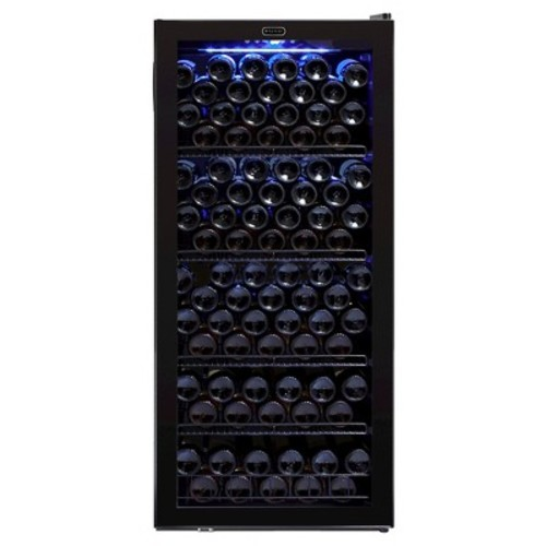 Whynter - 124-Bottle Wine Refrigerator - Black