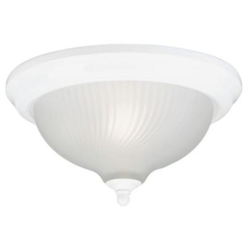 Westinghouse 3-Light Ceiling Fixture White Interior Flush-Mount with Frosted Swirl Glass