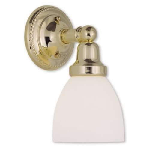 Livex Lighting Wall Mount Bathroom Fixture with Opal White Glass Shades