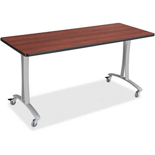 Safco Rumba Training Table T-leg Base with Casters - T-shaped Base - 2 Legs - 25.25