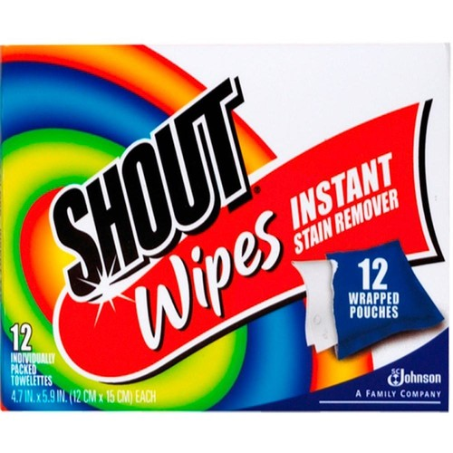 Shout Multi-Purpose Instant Stain Remover Wipes (12-Pack)
