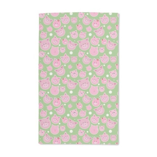 Family Pig Is Very Lucky Hand Towel (Set of 2)