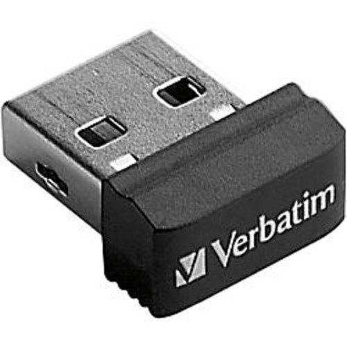 Verbatim 64GB Store 'n' Stay Nano USB Flash Drive - Black
