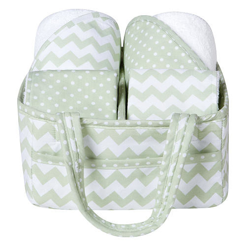 Trend Lab 5 Piece Sea Foam Baby Bath Gift Set