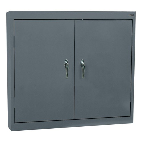 Sandusky Lee Welded Steel Wall Cabinet  Solid Doors, 36in.W x 12in.D x 30in.H, Charcoal, Model# WA22361230-02