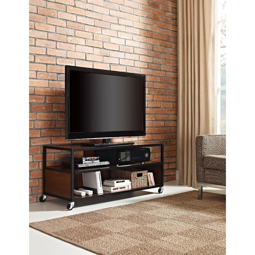 Dorel Home Furnishings Cherry Mason Ridge Mobile TV Stand