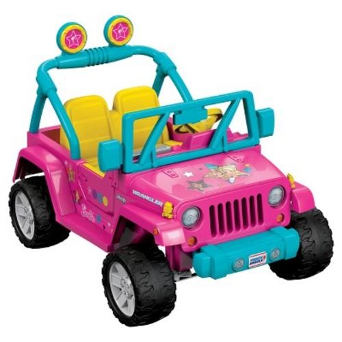 Fisher-Price Power Wheels Barbie Jeep Wrangler - Pink