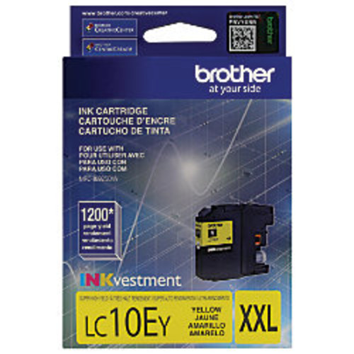 Brother LC10EY High-Yield Yellow Ink Cartridge