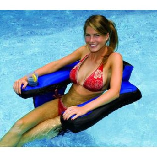 Blue Wave Fabric Covered U-Seat Pool Inflatable