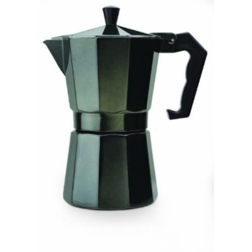 Primula Aluminum 6-Cup PEBK-3306 Stovetop Espresso Maker in Black