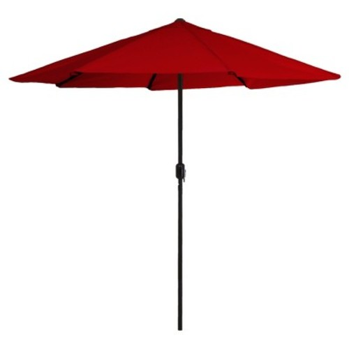 Pure Garden 9 ft. Aluminum Patio Umbrella with Auto Crank in Red