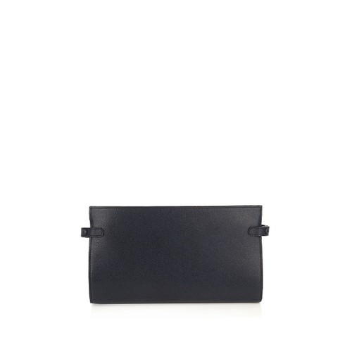 Grained-leather bi-fold cable holder