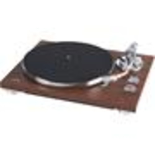 TEAC TN-350 (Walnut) Manual belt-drive turntable with pre-mounted cartridge, USB output, and built-in phono preamp