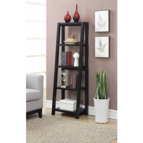 Convenience Concepts - Convenience Concepts Newport Lilly Bookcase in Black - Black
