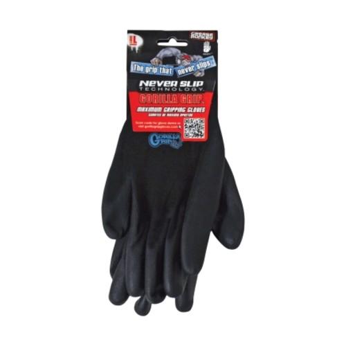 Grease Monkey Black Large Mechanic Grip Gloves(6 Pack)(25053-26)