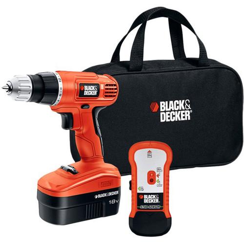 Black & Decker BD 18V Cordless Drill Red