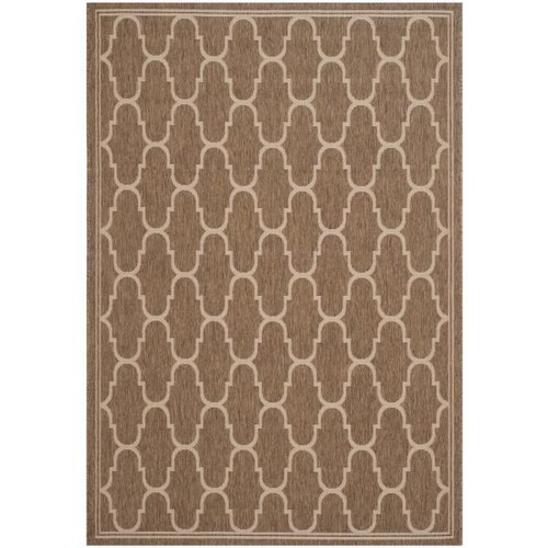 Safavieh Courtyard Brown/Beige 8 ft. x 11 ft. Indoor/Outdoor Area Rug