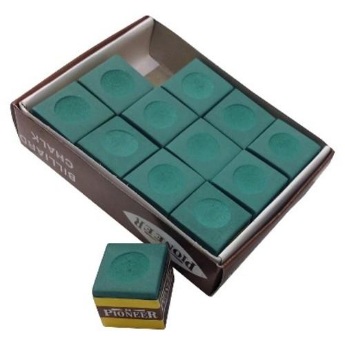 Hathaway Billiard Pool Cue Chalk - Green (12 Pack)