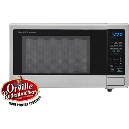 Sharp Carousel 1.1 Cu. Ft. 1000W Countertop Microwave Oven with Orville Redenbachers Popcorn Preset SMC1132CS