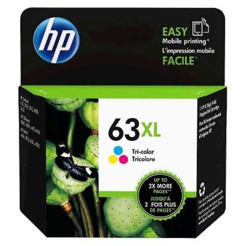 HP Inc. 63XL High Yield Tri-color Original Ink Cartridge (F6U63AN#140)