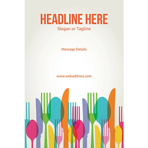 Custom Poster, Spoons and Forks, Vertical