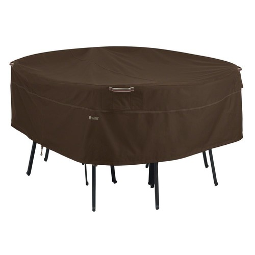 Madrona Medium Round Table And Chair Cover - Dark Cocoa - Classic Accessories
