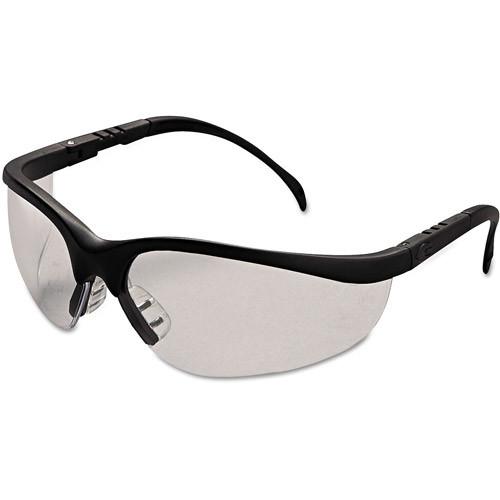 MCR Safety Klondike Crews ANSI Z87 Protective Glasses, Clear