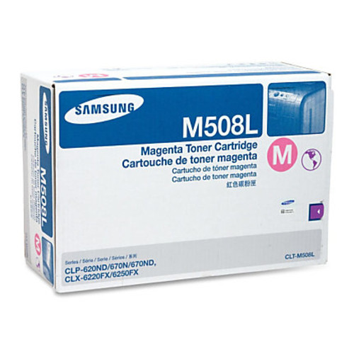 Samsung CLT-M508L Original Toner Cartridge - Laser - 4000 Pages - Magenta - 1 Each