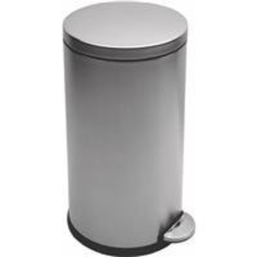 simplehuman Round Step Trash Can, Stainless Steel, 30 L / 7.9 Gal [8 Gallon]