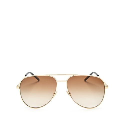 SAINT LAURENT Classic Aviator Sunglasses, 59Mm