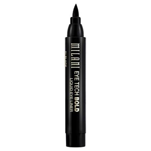 Milani Eye Tech Bold Liquid Eye Liner, 01 Black, 0.08 fl oz