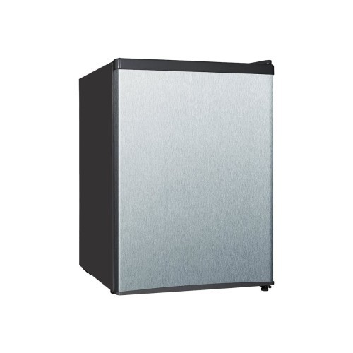 Midea WHS87LSS1 - Refrigerator - freestanding - width: 17.5 in - depth: 20.1 in - height: 24.8 in - 2.4 cu. ft - stainless steel (WHS-87LSS1)
