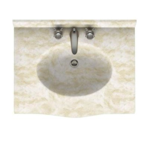 Swanstone Europa 31 in. W x 22.5 in. D Solid Surface Vanity Top with Sink in Cloud White