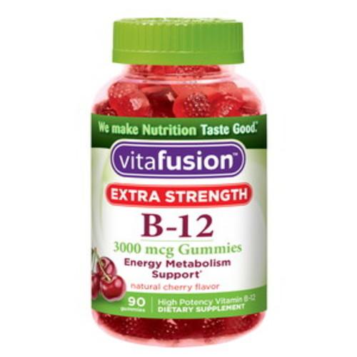 Vitafusion Extra Strength B12 Gummies 3000mcg, Cherry 90CT