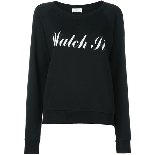 SAINT LAURENT 'Watch It' Printed Sweatshirt