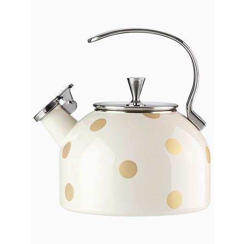 gold dot tea kettle