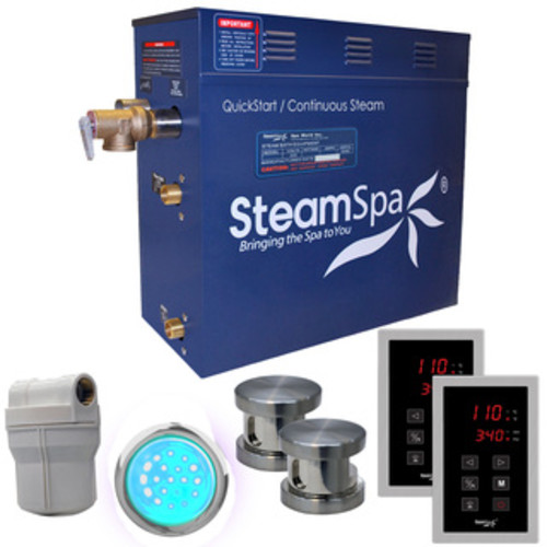SteamSpa Royal 10.5 KW QuickStart Steam Bath Generator Package in Oil Rubbed Bronze