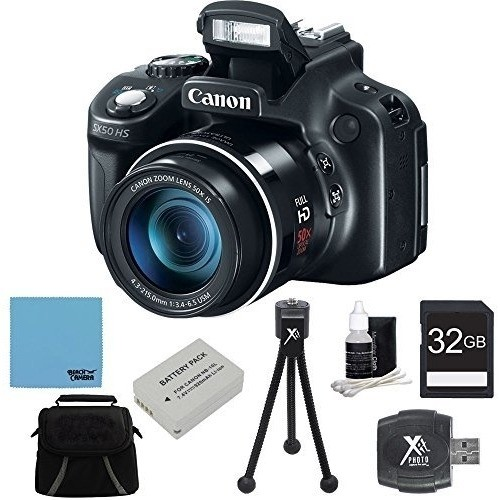 Canon - Powershot SX50 HS 50x Zoom High-Performance Camera 32GB Bundle