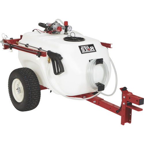 NorthStar Tow-Behind Trailer Boom Broadcast and Spot Sprayer  41-Gallon Capacity, 4.0 GPM, 12V DC