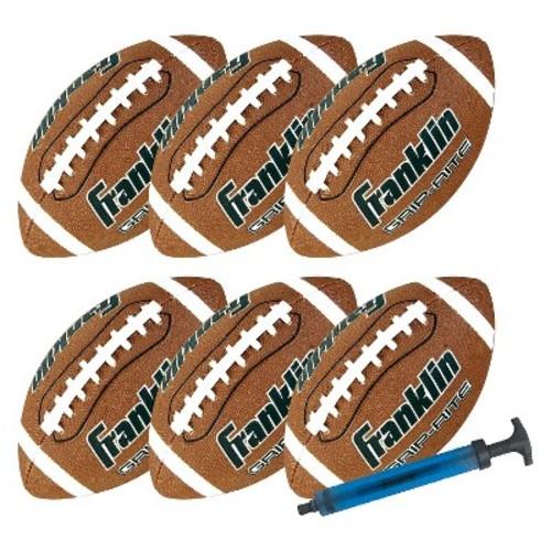 Franklin Junior Grip-Rite Football Team Pack with Pump