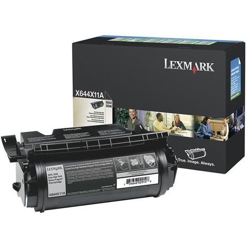 Lexmark Black Extra High Yield Return Program Toner Cartridge - Lexmark - X644X11A